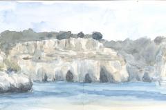 Calla Macarella Menorca; Aquarell, 12,5x32,5; 2019