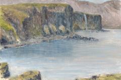 Steilküste Halbinsel Snaefellsnes, Island Öl; 12,5 x 32,5 cm; 2016